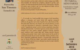 Presentazione nuovo libro don Benito Giorgetta (programma)