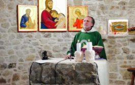 Santa messa dalla cappella Santa Maria dell'Accoglienza della casa famiglia