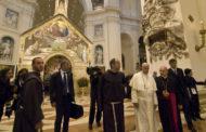 La meditazione del Papa alla Porziuncola