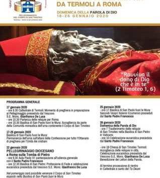 Ricordando il pellegrinaggio a Roma – Festa San Timoteo 2020